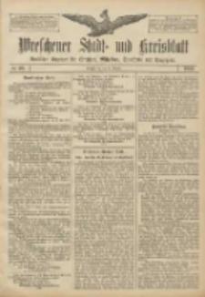 Wreschener Stadt und Kreisblatt: amtlicher Anzeiger für Wreschen, Miloslaw, Strzalkowo und Umgegend 1906.08.25 Nr99