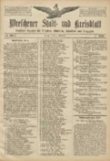 Wreschener Stadt und Kreisblatt: amtlicher Anzeiger für Wreschen, Miloslaw, Strzalkowo und Umgegend 1906.09.15 Nr108