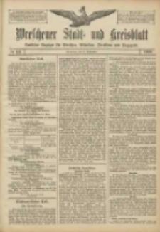 Wreschener Stadt und Kreisblatt: amtlicher Anzeiger für Wreschen, Miloslaw, Strzalkowo und Umgegend 1906.09.22 Nr111