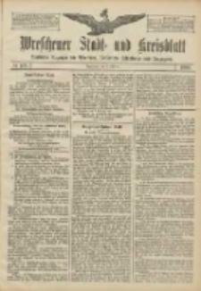 Wreschener Stadt und Kreisblatt: amtlicher Anzeiger für Wreschen, Miloslaw, Strzalkowo und Umgegend 1906.10.02 Nr115