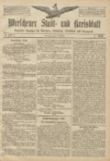 Wreschener Stadt und Kreisblatt: amtlicher Anzeiger für Wreschen, Miloslaw, Strzalkowo und Umgegend 1906.10.16 Nr121
