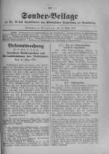 Amtsblatt der Königlichen Preussischen Regierung zu Bromberg. 1917.03.17 No.11