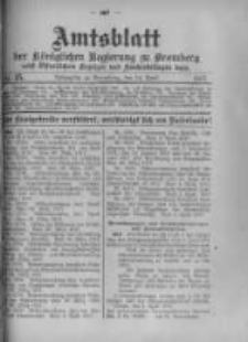 Amtsblatt der Königlichen Preussischen Regierung zu Bromberg. 1917.04.14 No.15