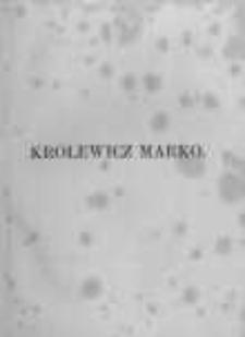 Królewicz Marko: narodowe pieśni serbskie
