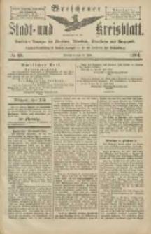 Wreschener Stadt und Kreisblatt: amtlicher Anzeiger für Wreschen, Miloslaw, Strzalkowo und Umgegend 1904.07.30 Nr88