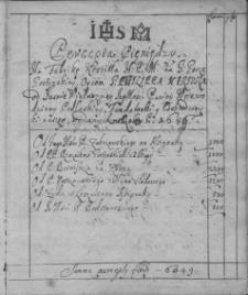 Precepta pieniędzy na fabrykę kościoła NMP na Świętej Górze z lat 1686-1717
