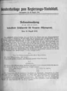 Amtsblatt der Königlichen Preussischen Regierung zu Bromberg. 1918.08.10 No.32