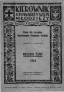 Kierownik Stowarzyszeń Młodzieży. 1929 R.8 nr1
