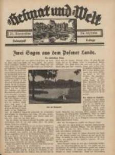 Heimat und Welt: Heimatpost: Beilage 1936.11.21 Nr47