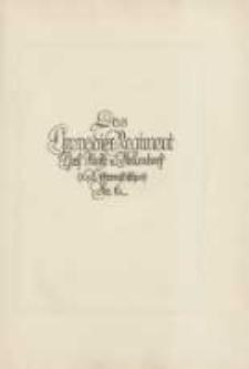 Das Grenadier-Regiment Graf Kleist von Nollendorf (1. Westpreusisches) Nr. 6 im Weltkriege