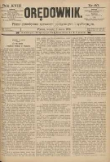 Orędownik: pismo poświęcone sprawom politycznym i spółecznym 1888.03.13 R.18 Nr60
