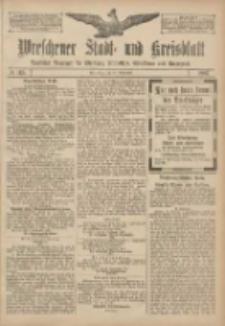 Wreschener Stadt und Kreisblatt: amtlicher Anzeiger für Wreschen, Miloslaw, Strzalkowo und Umgegend 1907.09.26 Nr115