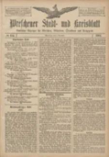 Wreschener Stadt und Kreisblatt: amtlicher Anzeiger für Wreschen, Miloslaw, Strzalkowo und Umgegend 1907.11.09 Nr134