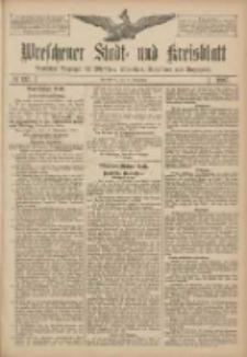 Wreschener Stadt und Kreisblatt: amtlicher Anzeiger für Wreschen, Miloslaw, Strzalkowo und Umgegend 1907.11.16 Nr137