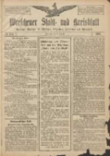 Wreschener Stadt und Kreisblatt: amtlicher Anzeiger für Wreschen, Miloslaw, Strzalkowo und Umgegend 1907.12.28 Nr154
