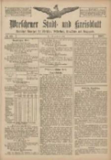 Wreschener Stadt und Kreisblatt: amtlicher Anzeiger für Wreschen, Miloslaw, Strzalkowo und Umgegend 1907.07.27 Nr89