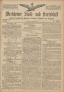 Wreschener Stadt und Kreisblatt: amtlicher Anzeiger für Wreschen, Miloslaw, Strzalkowo und Umgegend 1907.07.30 Nr90