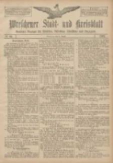 Wreschener Stadt und Kreisblatt: amtlicher Anzeiger für Wreschen, Miloslaw, Strzalkowo und Umgegend 1907.08.13 Nr96