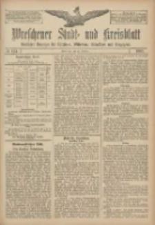 Wreschener Stadt und Kreisblatt: amtlicher Anzeiger für Wreschen, Miloslaw, Strzalkowo und Umgegend 1907.10.17 Nr124