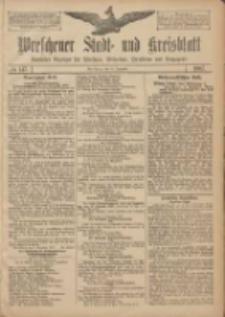 Wreschener Stadt und Kreisblatt: amtlicher Anzeiger für Wreschen, Miloslaw, Strzalkowo und Umgegend 1907.12.10 Nr147