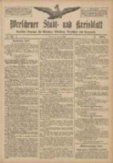 Wreschener Stadt und Kreisblatt: amtlicher Anzeiger für Wreschen, Miloslaw, Strzalkowo und Umgegend 1907.07.20 Nr86