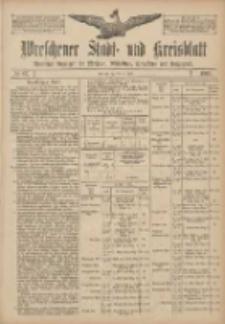 Wreschener Stadt und Kreisblatt: amtlicher Anzeiger für Wreschen, Miloslaw, Strzalkowo und Umgegend 1907.07.23 Nr87