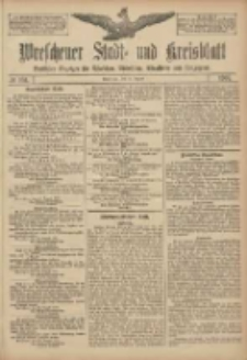 Wreschener Stadt und Kreisblatt: amtlicher Anzeiger für Wreschen, Miloslaw, Strzalkowo und Umgegend 1907.08.31 Nr104