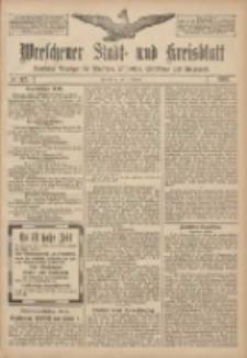 Wreschener Stadt und Kreisblatt: amtlicher Anzeiger für Wreschen, Miloslaw, Strzalkowo und Umgegend 1907.10.01 Nr117