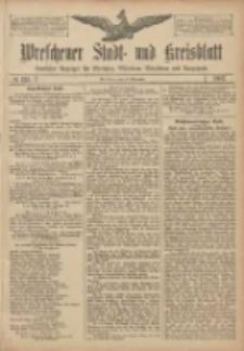Wreschener Stadt und Kreisblatt: amtlicher Anzeiger für Wreschen, Miloslaw, Strzalkowo und Umgegend 1907.11.12 Nr135