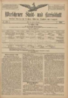 Wreschener Stadt und Kreisblatt: amtlicher Anzeiger für Wreschen, Miloslaw, Strzalkowo und Umgegend 1907.11.14 Nr136