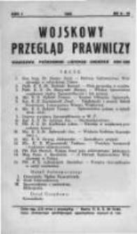 Wojskowy Przegląd Prawniczy: miesięcznik wydawany przez Departament Sprawiedliwości M. S. Wojsk. oraz Sekcję Prawniczą Towarzystwa Wiedzy Wojskowej. 1928 R.1 nr8-10