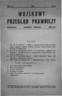 Wojskowy Przegląd Prawniczy: kwartalnik wydawany przez Departament Sprawiedliwości M. S. Wojsk. oraz Sekcję Prawniczą Towarzystwa Wiedzy Wojskowej. 1931 R.4 nr2