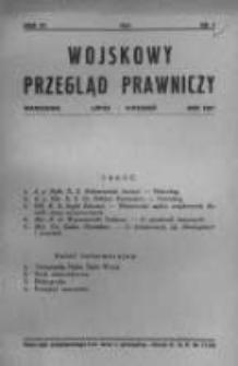 Wojskowy Przegląd Prawniczy: kwartalnik wydawany przez Departament Sprawiedliwości M. S. Wojsk. oraz Sekcję Prawniczą Towarzystwa Wiedzy Wojskowej. 1931 R.4 nr3