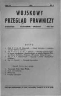 Wojskowy Przegląd Prawniczy: kwartalnik wydawany przez Departament Sprawiedliwości M. S. Wojsk. oraz Sekcję Prawniczą Towarzystwa Wiedzy Wojskowej. 1931 R.4 nr4