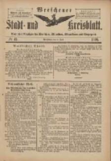 Wreschener Stadt und Kreisblatt: amtlicher Anzeiger für Wreschen, Miloslaw, Strzalkowo und Umgegend 1898.06.04 Nr47