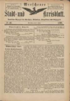 Wreschener Stadt und Kreisblatt: amtlicher Anzeiger für Wreschen, Miloslaw, Strzalkowo und Umgegend 1898.06.08 Nr48