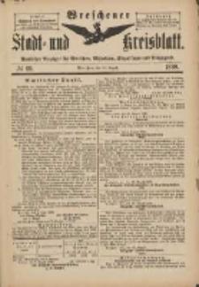 Wreschener Stadt und Kreisblatt: amtlicher Anzeiger für Wreschen, Miloslaw, Strzalkowo und Umgegend 1898.08.20 Nr69