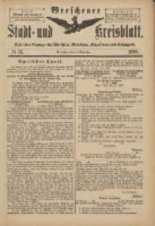 Wreschener Stadt und Kreisblatt: amtlicher Anzeiger für Wreschen, Miloslaw, Strzalkowo und Umgegend 1898.09.14 Nr76