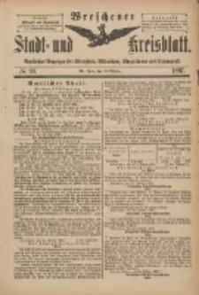Wreschener Stadt und Kreisblatt: amtlicher Anzeiger für Wreschen, Miloslaw, Strzalkowo und Umgegend 1898.10.30 Nr90