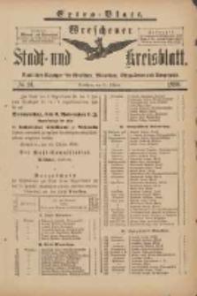 Wreschener Stadt und Kreisblatt: amtlicher Anzeiger für Wreschen, Miloslaw, Strzalkowo und Umgegend 1898.10.29 Nr91