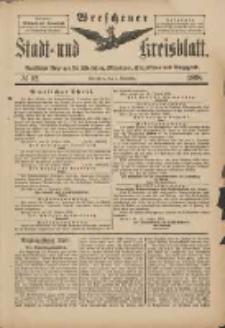 Wreschener Stadt und Kreisblatt: amtlicher Anzeiger für Wreschen, Miloslaw, Strzalkowo und Umgegend 1898.11.02 Nr92