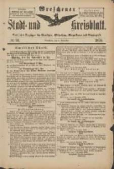 Wreschener Stadt und Kreisblatt: amtlicher Anzeiger für Wreschen, Miloslaw, Strzalkowo und Umgegend 1898.11.09 Nr94