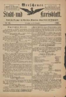 Wreschener Stadt und Kreisblatt: amtlicher Anzeiger für Wreschen, Miloslaw, Strzalkowo und Umgegend 1898.11.23 Nr98