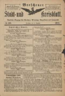 Wreschener Stadt und Kreisblatt: amtlicher Anzeiger für Wreschen, Miloslaw, Strzalkowo und Umgegend 1898.12.10 Nr103