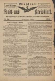 Wreschener Stadt und Kreisblatt: amtlicher Anzeiger für Wreschen, Miloslaw, Strzalkowo und Umgegend 1898.12.14 Nr104