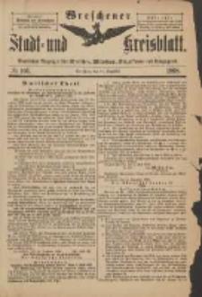 Wreschener Stadt und Kreisblatt: amtlicher Anzeiger für Wreschen, Miloslaw, Strzalkowo und Umgegend 1898.12.21 Nr106