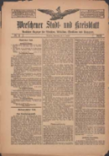 Wreschener Stadt und Kreisblatt: amtlicher Anzeiger für Wreschen, Miloslaw, Strzalkowo und Umgegend 1912.01.11 Nr4