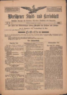 Wreschener Stadt und Kreisblatt: amtlicher Anzeiger für Wreschen, Miloslaw, Strzalkowo und Umgegend 1912.01.20 Nr9