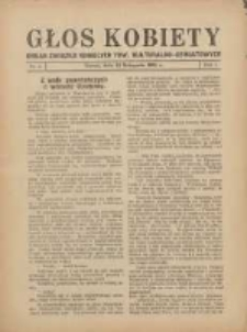 Głos Kobiety 1931.11.12 R.1 Nr4