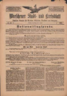 Wreschener Stadt und Kreisblatt: amtlicher Anzeiger für Wreschen, Miloslaw, Strzalkowo und Umgegend 1912.04.25 Nr50